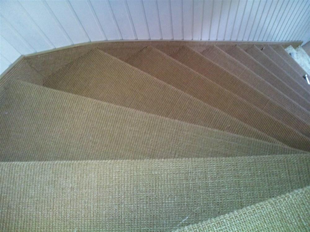 Trap stofferen sisal amsterdam thijs tapijt de man die het maken